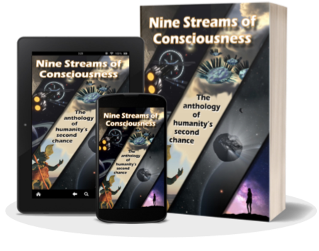 Ebook and Paperback images of Nine Streams of Consciousness.