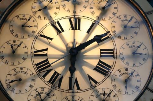 Dreger Clock Cities around the world face.